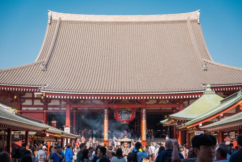 """Το βουδιστικό όνομα """"Sensoji """"ναών στην περιοχή Asakusa στο Τόκιο, Ιαπωνία στοκ φωτογραφίες"""