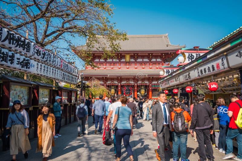 """Το βουδιστικό όνομα """"Sensoji """"ναών στην περιοχή Asakusa στο Τόκιο, Ιαπωνία στοκ εικόνα"""