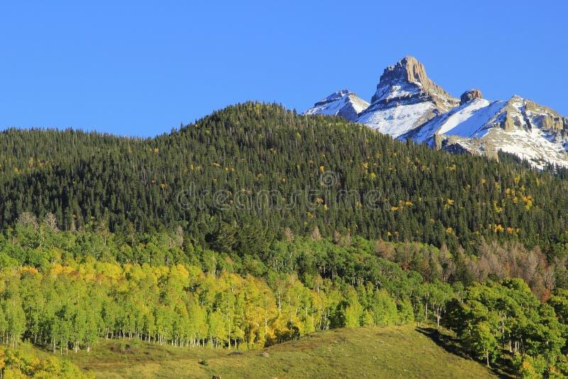 Το βουνό Λευκών Οίκων, τοποθετεί τη σειρά Sneffels, Κολοράντο στοκ φωτογραφία με δικαίωμα ελεύθερης χρήσης