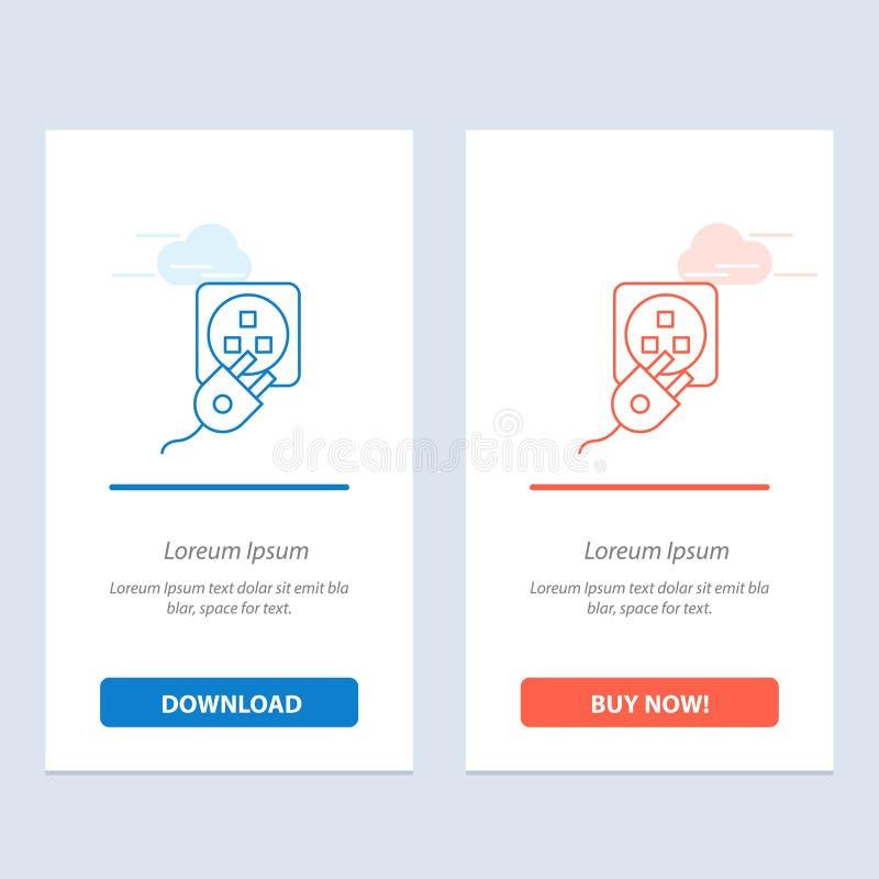 Το βούλωμα, ηλεκτρικός, ηλεκτρικό, σκοινί, χρεώνει το μπλε και το κόκκινο μεταφορτώνει και αγοράζει τώρα το πρότυπο καρτών Widget ελεύθερη απεικόνιση δικαιώματος