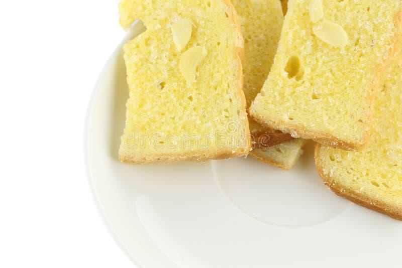 Το βούτυρο ψήνει το ψωμί στοκ φωτογραφία