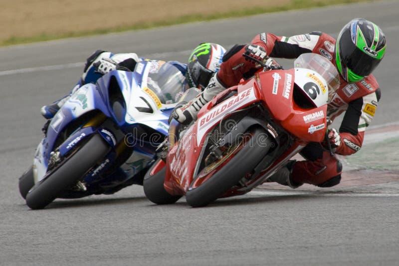 το βρετανικό mot superbike επάνω θερ&mu στοκ εικόνα