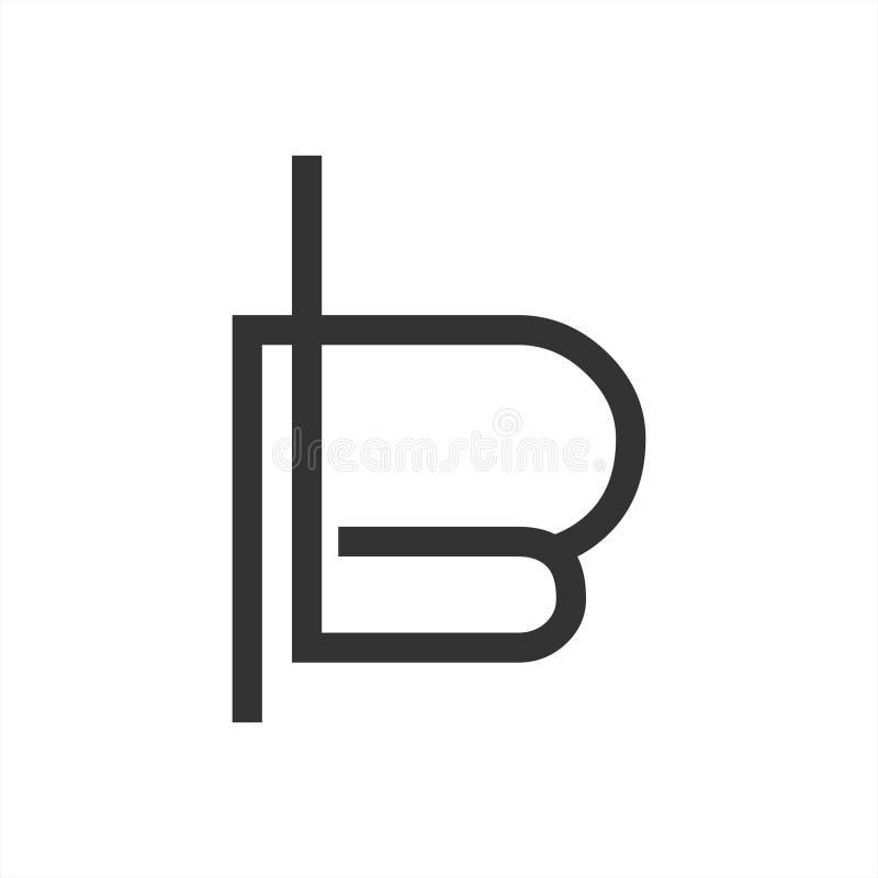 Το Β, σημείο ζέσεως, PB, pbL μονογραφεί το γεωμετρικό λογότυπο επιχείρησης τέχνης γραμμών στοκ φωτογραφίες με δικαίωμα ελεύθερης χρήσης