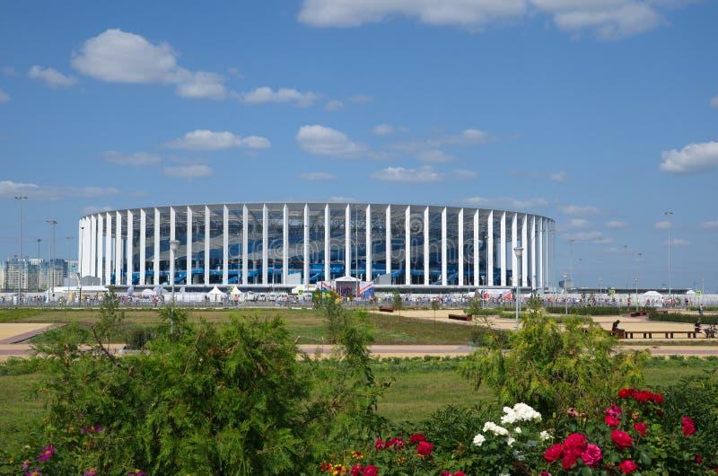 Το γήπεδο ποδοσφαίρου σε Nizhny Novgorod, Ρωσία στοκ εικόνες με δικαίωμα ελεύθερης χρήσης