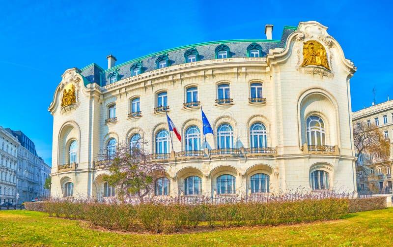 Το γαλλικό οικοδόμημα πρεσβειών στη Βιέννη, Αυστρία στοκ εικόνα