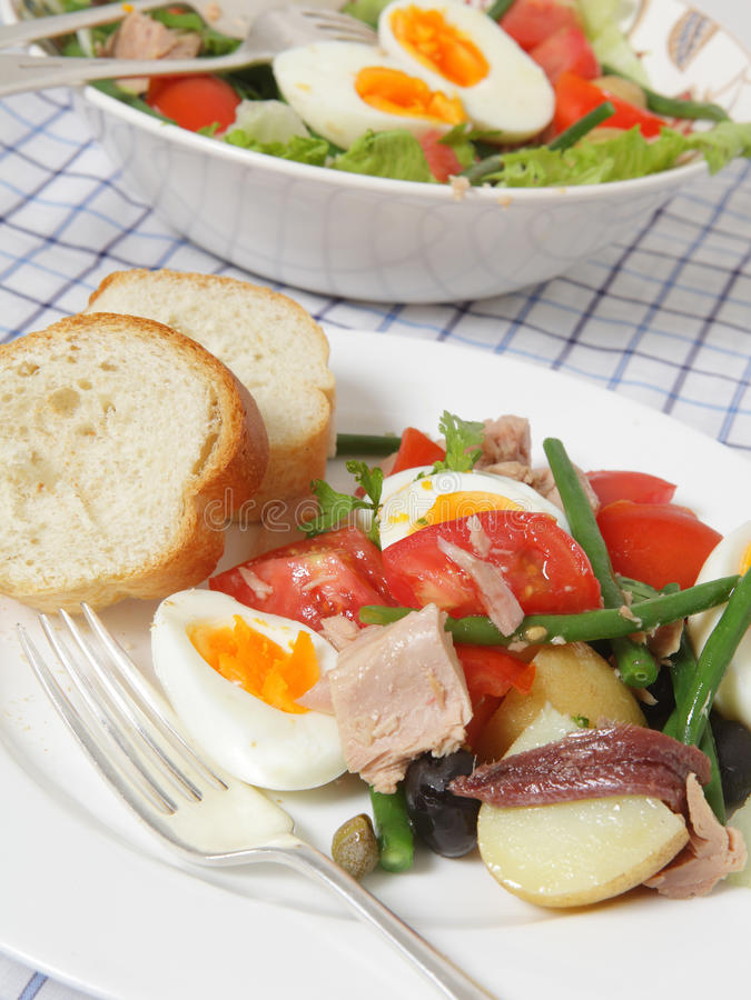 το γεύμα η σαλάτα στοκ εικόνα