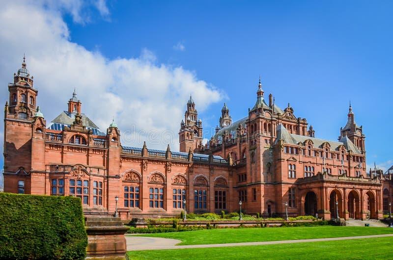 Το γκαλερί τέχνης και το μουσείο Kelvingrove στη Γλασκώβη, Σκωτία στοκ φωτογραφία