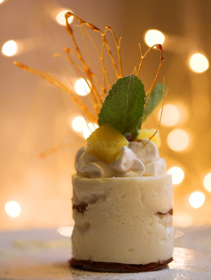 Το γλυκό κέικ, κλείνει επάνω στοκ εικόνες