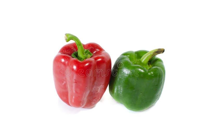 Το γλυκό πιπέρι απομονώνει στο άσπρο υπόβαθρο στοκ εικόνες