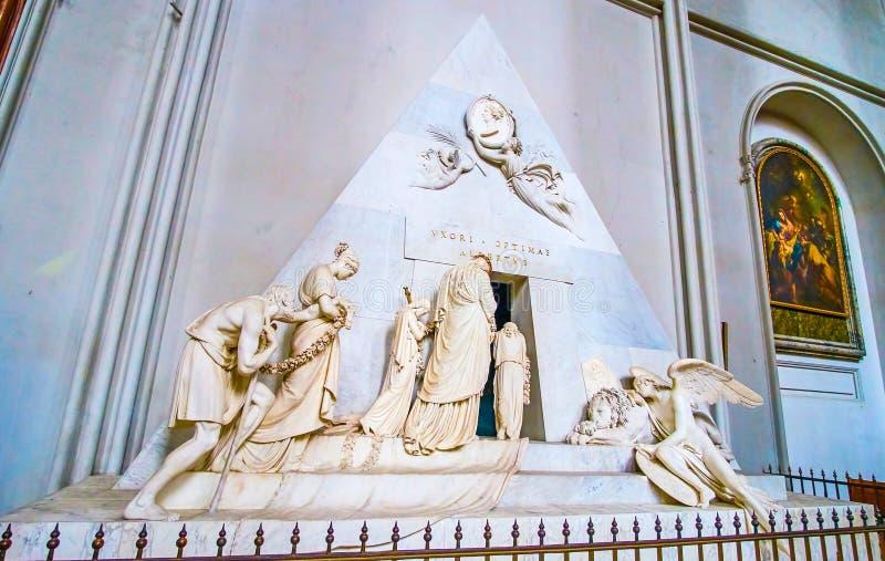 Το γλυπτό πετρών στην εκκλησία του ST Augustine στη Βιέννη, Αυστρία στοκ φωτογραφία με δικαίωμα ελεύθερης χρήσης