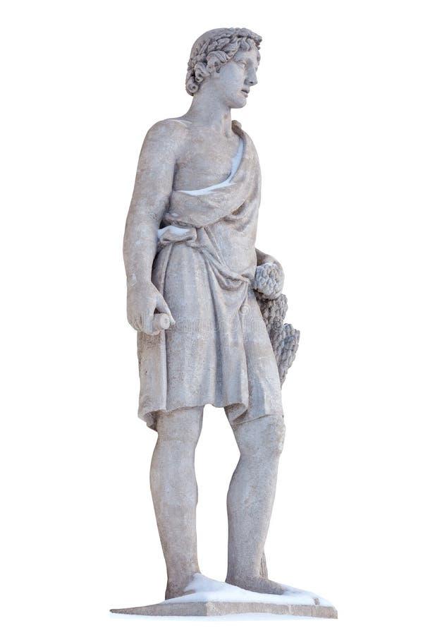 Το γλυπτό του Θεού Adonis αρχαίου Έλληνα απομονώνει Ο Adonis ήταν Θεός της ομορφιάς, της επιθυμίας και της βλάστησης στοκ φωτογραφία με δικαίωμα ελεύθερης χρήσης
