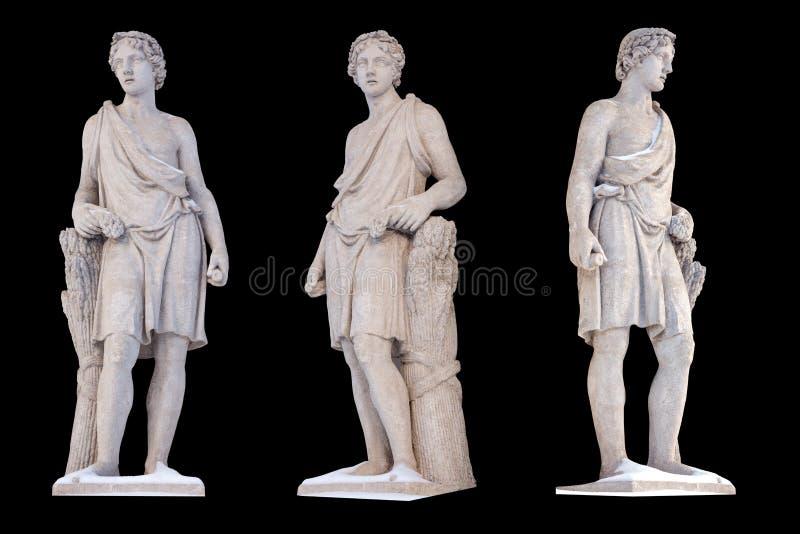 Το γλυπτό του Θεού Adonis αρχαίου Έλληνα απομονώνει Ο Adonis ήταν Θεός της ομορφιάς, της επιθυμίας και της βλάστησης στοκ εικόνα