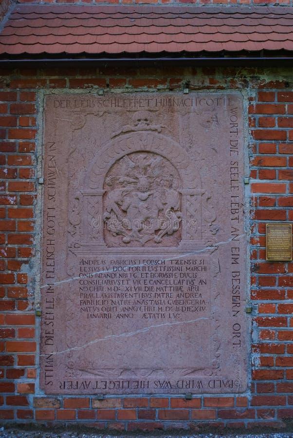 το γοτθικό νησί καθεδρικών ναών οικοδόμησης τούβλου kaliningrad konigsberg προπαγώνει το ύφος στοκ φωτογραφία με δικαίωμα ελεύθερης χρήσης