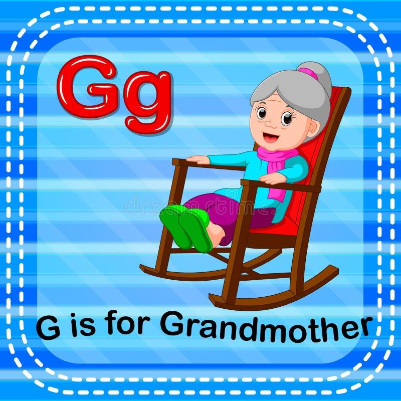 Το γράμμα Γ Flashcard είναι για τη γιαγιά απεικόνιση αποθεμάτων