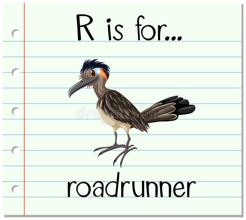 Το γράμμα Ρ Flashcard είναι για το roadrunner ελεύθερη απεικόνιση δικαιώματος