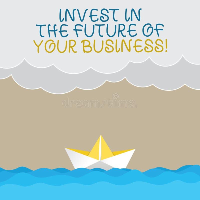 Το γράψιμο κειμένων γραφής επενδύει στο μέλλον της επιχείρησής σας Η έννοια έννοιας κάνει τις επενδύσεις για να βελτιώσει το κύμα διανυσματική απεικόνιση