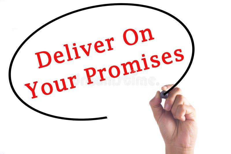 Το γράψιμο χεριών παραδίδει στις υποσχέσεις σας στο διαφανή πίνακα στοκ εικόνες με δικαίωμα ελεύθερης χρήσης