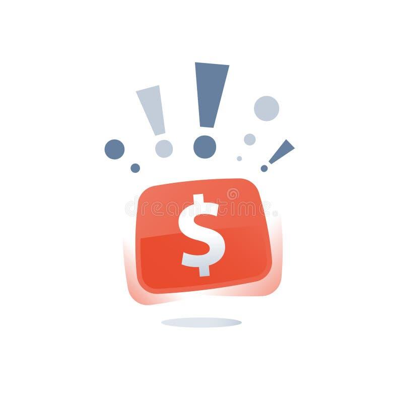 Το γρήγορο δάνειο, τα εύκολα χρήματα, η οικονομική έννοια, το έξοχα βρα απεικόνιση αποθεμάτων
