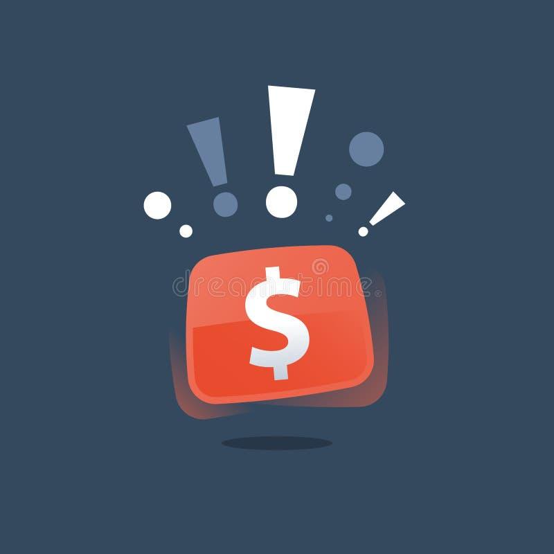 Το γρήγορο δάνειο, τα εύκολα χρήματα, η οικονομική έννοια, το έξοχα βραβείο και το δολάριο υπογράφουν, κερδίζοντας τη λαχειοφόρο  διανυσματική απεικόνιση