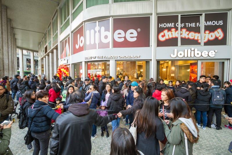 Το γρήγορο φαγητό Jollibee ανοίγει το πρώτο ευρωπαϊκό εστιατόριό του στο Μιλάνο, στοκ φωτογραφίες με δικαίωμα ελεύθερης χρήσης