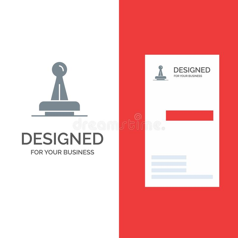 Το γραμματόσημο, έγκριση, αρχή, νομική, σημάδι, λάστιχο, σφραγίζει το γκρίζο σχέδιο λογότυπων και το πρότυπο επαγγελματικών καρτώ απεικόνιση αποθεμάτων