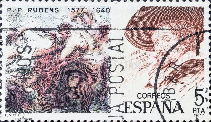 Το γραμματόσημο παρουσιάζει εικόνα του Peter Paul Rubens στοκ φωτογραφίες
