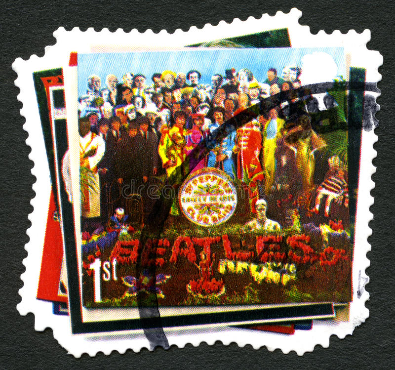 Το γραμματόσημο Beatles UK στοκ εικόνες με δικαίωμα ελεύθερης χρήσης