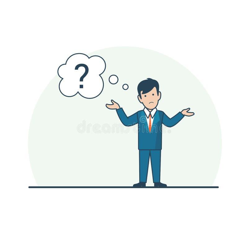 Το γραμμικό επίπεδο ταραγμένο άτομο απαξιεί τη συνομιλία ώμων απεικόνιση αποθεμάτων