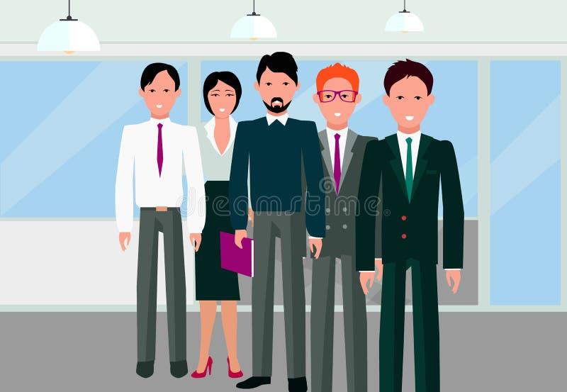 Το γραμμικό σχέδιο ομάδας επιτυχίας μας ελεύθερη απεικόνιση δικαιώματος