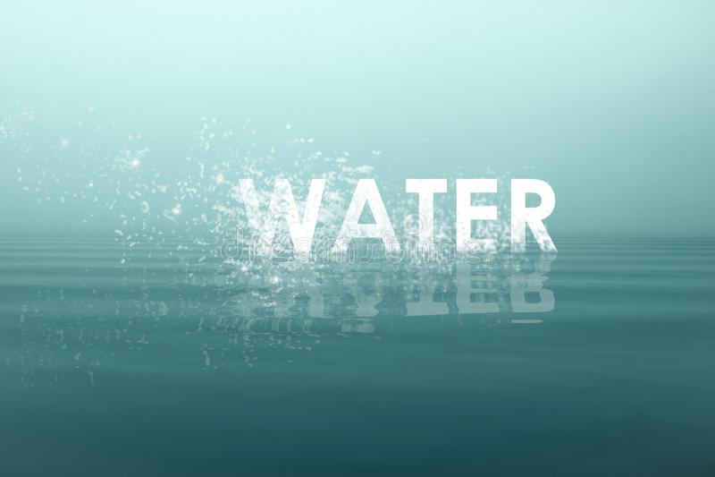 Το γραπτό νερό λέξης στοκ φωτογραφία