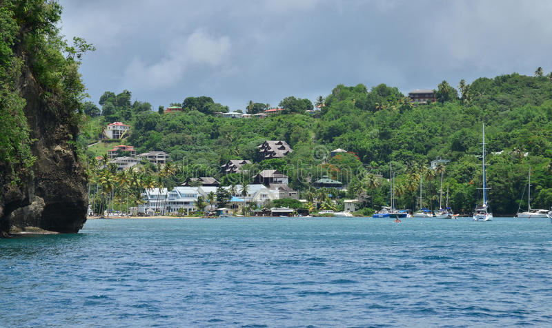 Το γραφικό νησί της Αγίας Λουκία στις Δυτικές Ινδίες στοκ εικόνα