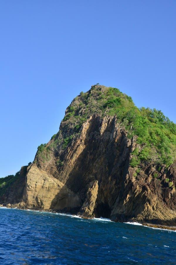 Το γραφικό νησί της Αγίας Λουκία στις Δυτικές Ινδίες στοκ εικόνα με δικαίωμα ελεύθερης χρήσης
