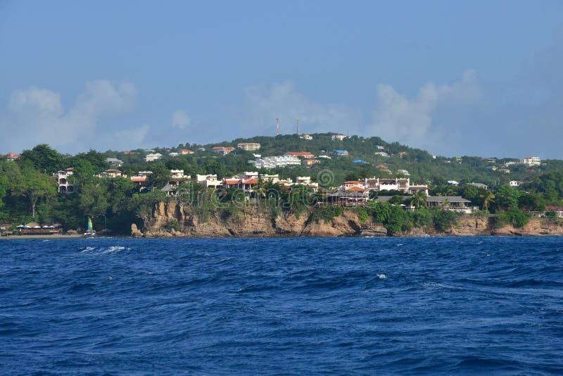 Το γραφικό νησί της Αγίας Λουκία στις Δυτικές Ινδίες στοκ φωτογραφία