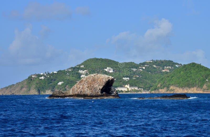 Το γραφικό νησί της Αγίας Λουκία στις Δυτικές Ινδίες στοκ φωτογραφία με δικαίωμα ελεύθερης χρήσης