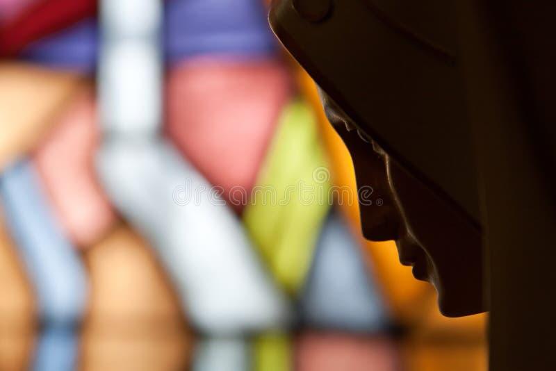 το γυαλί ιερή Mary λεκίασε τ& στοκ φωτογραφία