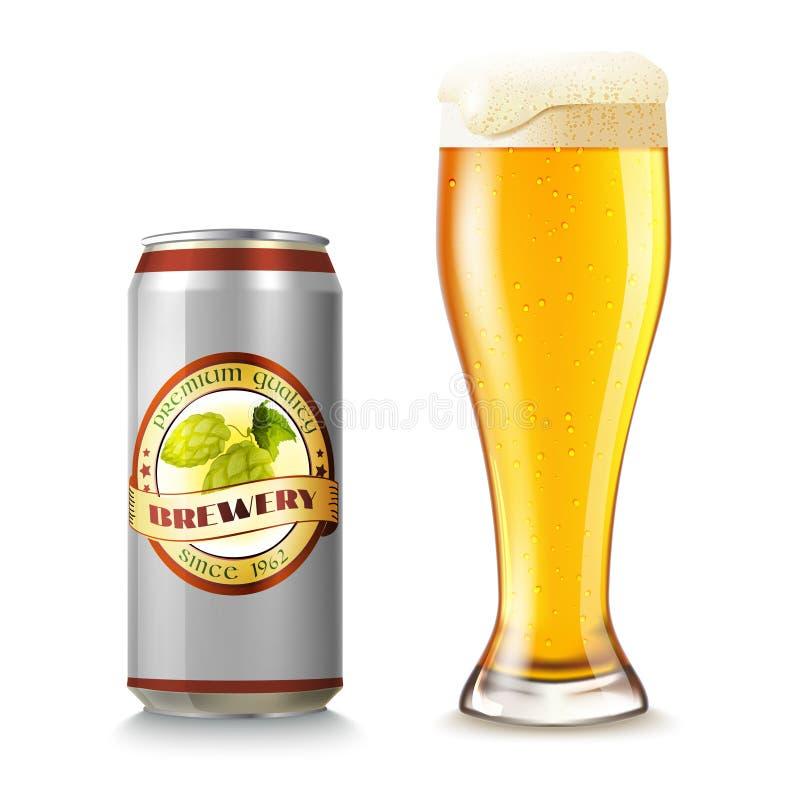 Το γυαλί μπύρας και μπορεί απεικόνιση αποθεμάτων