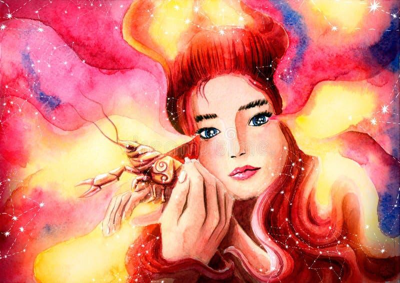 Το γλυκό κορίτσι προστατεύει τον καρκίνο αντιπροσωπεύει διανυσματική απεικόνιση