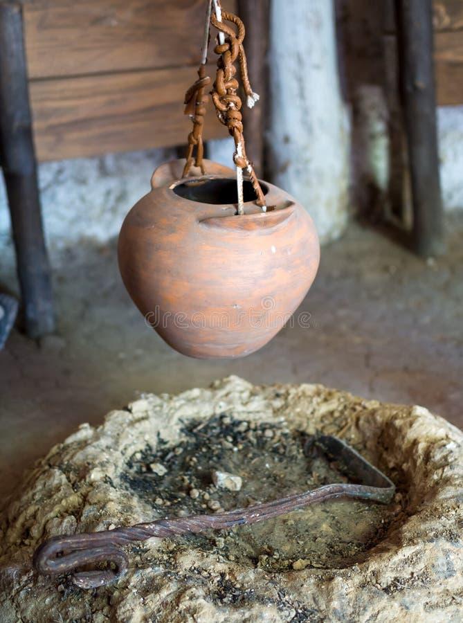 Το δάπεδο τζακιού στην αρχαία τακτοποίηση στοκ φωτογραφία με δικαίωμα ελεύθερης χρήσης