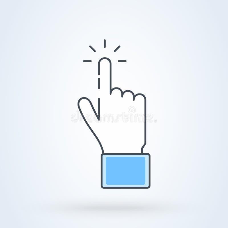 Το δάχτυλο χτυπά το διάνυσμα εικονιδίων σχέδιο συμβόλων απεικόνισης δεικτών χεριών ποντικιών ελεύθερη απεικόνιση δικαιώματος