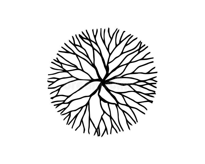 Το δέντρο χτυπά το υπόβαθρο κορμών δέντρων περικοπών πριονιών επίσης corel σύρετε το διάνυσμα απεικόνισης διανυσματική απεικόνιση