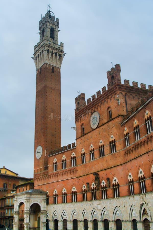 Το Δημαρχείο στη Σιένα, Ιταλία στοκ εικόνες με δικαίωμα ελεύθερης χρήσης
