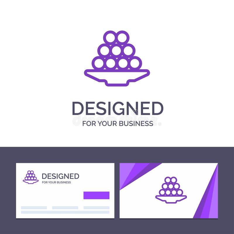 Το δημιουργικό κύπελλο προτύπων επαγγελματικών καρτών και λογότυπων, λιχουδιά, επιδόρπιο, Ινδός, Laddu, γλυκό, μεταχειρίζεται τη  ελεύθερη απεικόνιση δικαιώματος