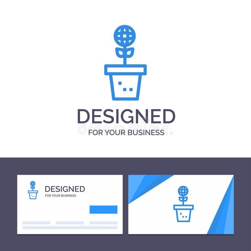 Το δημιουργικό πρότυπο Eco, περιβάλλον, φόρμα, φύση επαγγελματικών καρτών και λογότυπων, φυτεύει τη διανυσματική απεικόνιση απεικόνιση αποθεμάτων