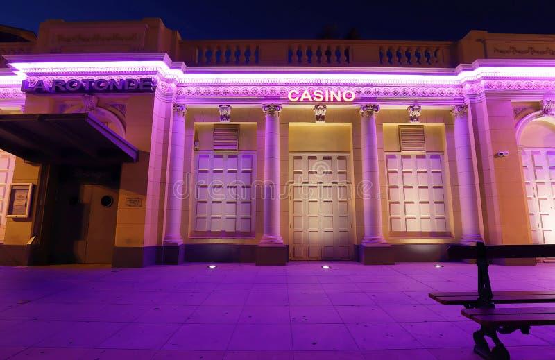 Το δημοτικό καζίνο της πόλης Ajaccio της Κορσικής Βρίσκεται στο ιστορικό κέντρο της θάλασσας στοκ φωτογραφία με δικαίωμα ελεύθερης χρήσης