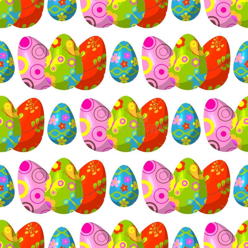 Το διάνυσμα αυγών Πάσχας χρωμάτισε με το αναδρομικό πολυ χρωματισμένο εκλεκτής ποιότητας παιχνίδι διακοπών οργανικής τροφής διακο ελεύθερη απεικόνιση δικαιώματος