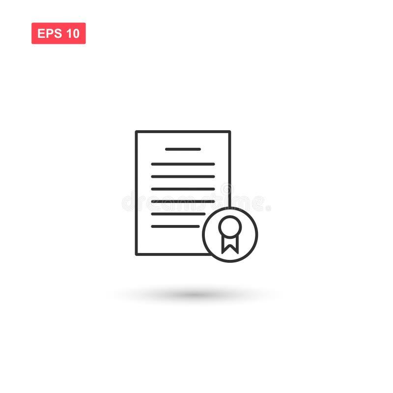 Το διάνυσμα εικονιδίων διακριτικών πιστοποιητικών απομόνωσε 7 ελεύθερη απεικόνιση δικαιώματος