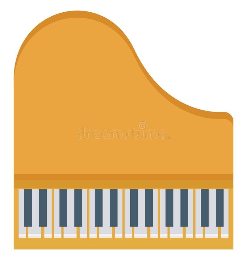 Το διάνυσμα πληκτρολογίων πιάνων απομόνωσε τα διανυσματικά εικονίδια που μπορούν να τροποποιηθούν εύκολα και να εκδώσουν απεικόνιση αποθεμάτων