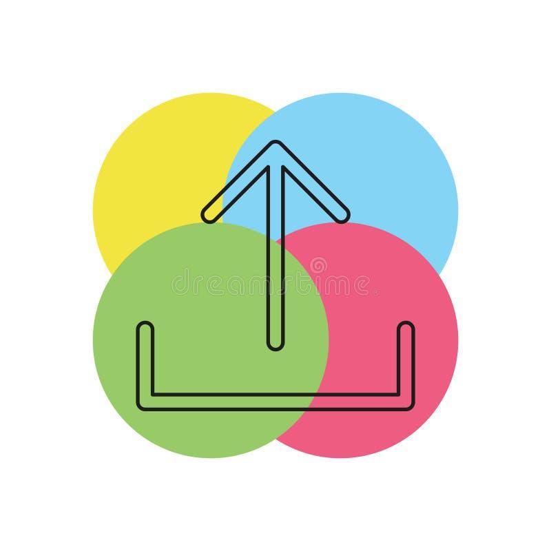 Το διάνυσμα φορτώνει το σύμβολο - app επάνω στο κουμπί φορτίων διανυσματική απεικόνιση