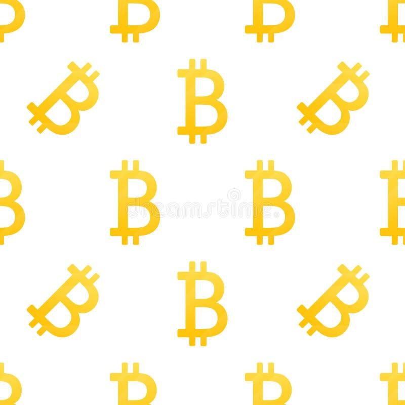 Το διάνυσμα Bitcoin είναι ένα απομονωμένο απλό άνευ ραφής σχέδιο Σύμβολο εικονιδίων Bitkoins σε ένα άσπρο υπόβαθρο Επιχείρηση Ιστ ελεύθερη απεικόνιση δικαιώματος