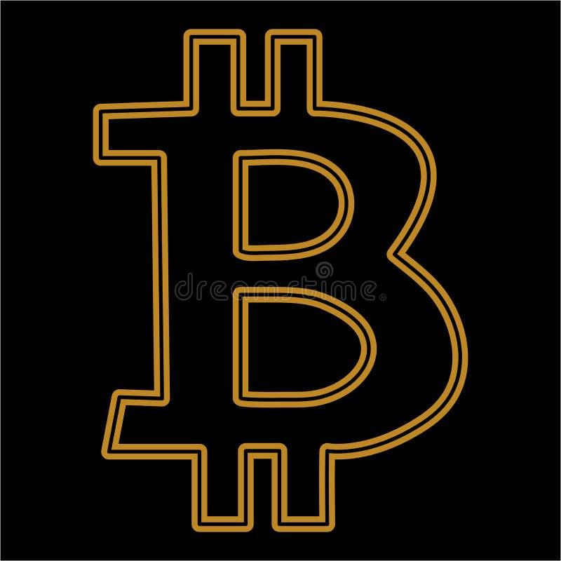 Το διάνυσμα Bitcoin είναι ένα απομονωμένο απλό άνευ ραφής σχέδιο Σύμβολο εικονιδίων Bitkoins σε ένα ΜΑΥΡΟ υπόβαθρο απεικόνιση αποθεμάτων